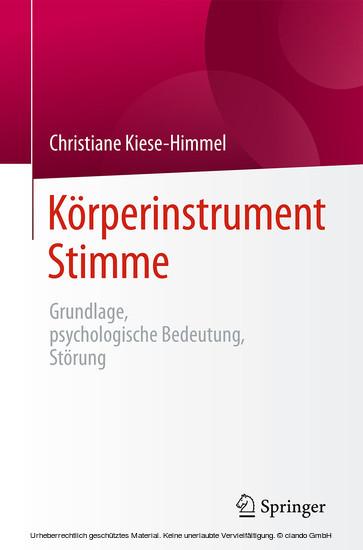 Körperinstrument Stimme - Blick ins Buch
