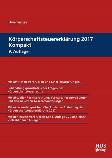 Körperschaftsteuererklärung 2017 Kompakt - Blick ins Buch
