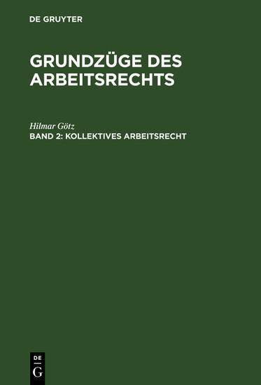 Kollektives Arbeitsrecht - Blick ins Buch