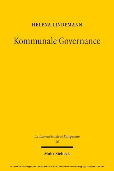 Kommunale Governance - Blick ins Buch
