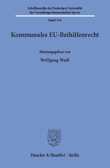 Kommunales EU-Beihilfenrecht. - Blick ins Buch