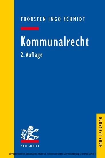 Kommunalrecht - Blick ins Buch