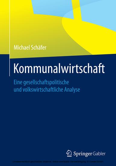 Kommunalwirtschaft - Blick ins Buch