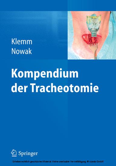 Kompendium der Tracheotomie - Blick ins Buch