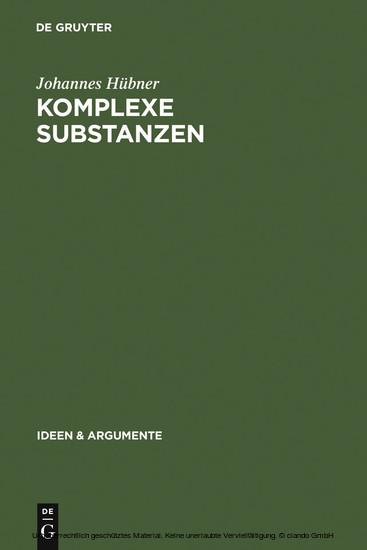 Komplexe Substanzen - Blick ins Buch