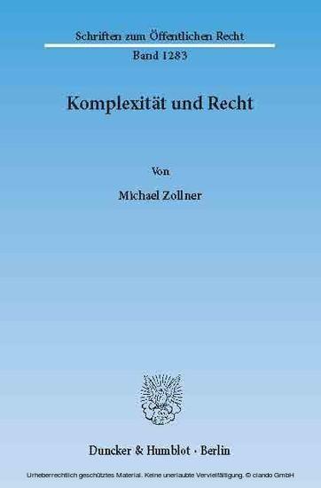 Komplexität und Recht. - Blick ins Buch