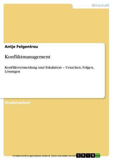 Konfliktmanagement - Blick ins Buch