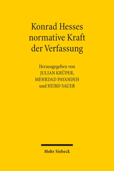 Konrad Hesses normative Kraft der Verfassung - Blick ins Buch