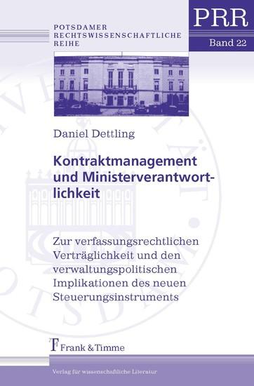 Kontraktmanagement und Ministerverantwortlichkeit - Blick ins Buch