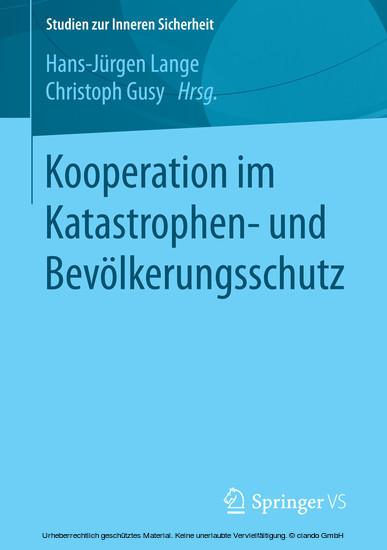 Kooperation im Katastrophen- und Bevölkerungsschutz - Blick ins Buch