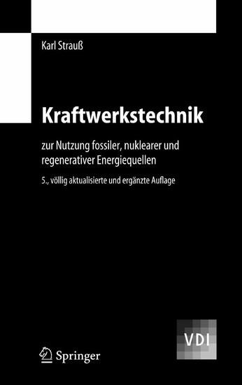 Kraftwerkstechnik - Blick ins Buch
