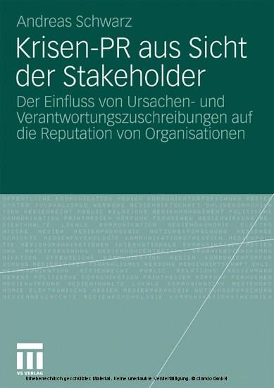 Krisen-PR aus Sicht der Stakeholder - Blick ins Buch