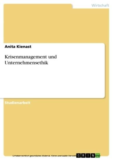 Krisenmanagement und Unternehmensethik - Blick ins Buch