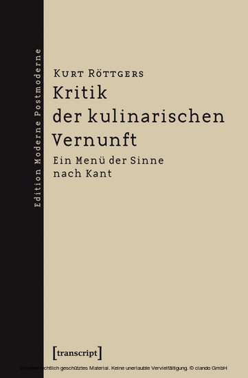 Kritik der kulinarischen Vernunft - Blick ins Buch