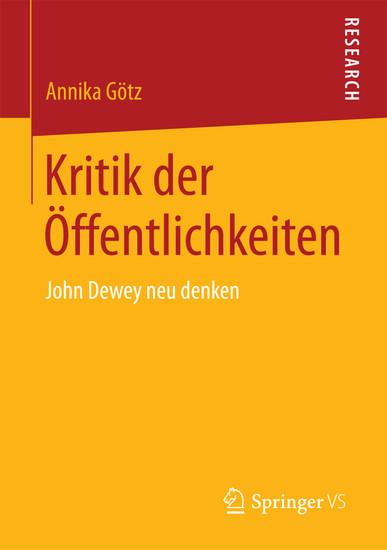 Kritik der Öffentlichkeiten - Blick ins Buch