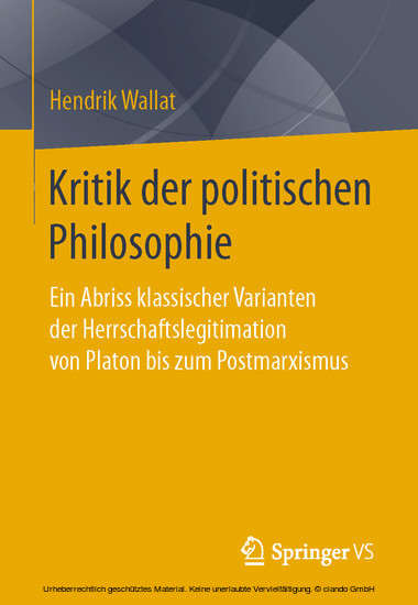 Kritik der politischen Philosophie - Blick ins Buch