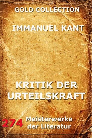 Kritik der Urteilskraft - Blick ins Buch