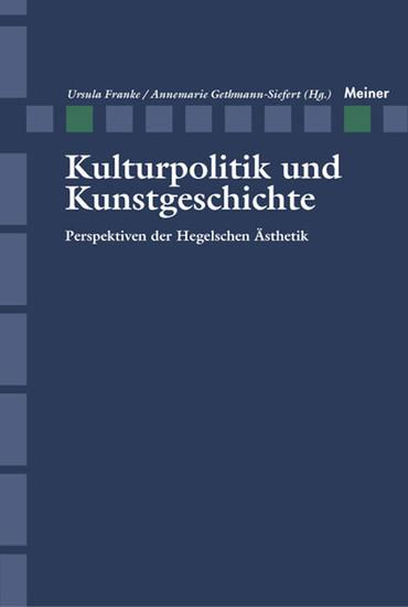 Kulturpolitik und Kunstgeschichte - Blick ins Buch