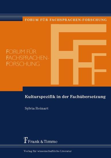 Kulturspezifik in der Fachübersetzung - Blick ins Buch