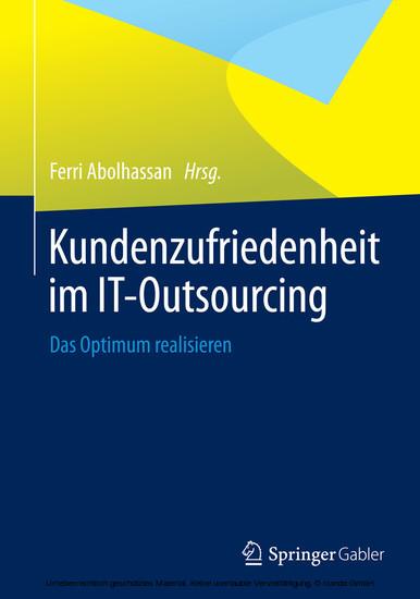 Kundenzufriedenheit im IT-Outsourcing - Blick ins Buch
