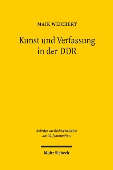 Kunst und Verfassung in der DDR - Blick ins Buch