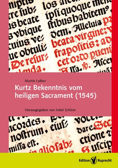 Kurtz Bekenntnis vom heiligen Sacrament (1545) - Blick ins Buch