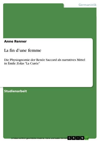 La fin d'une femme - Blick ins Buch