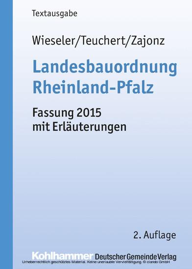 Landesbauordnung Rheinland-Pfalz - Blick ins Buch