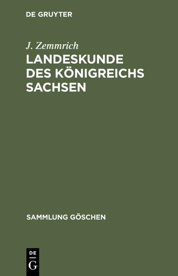 Landeskunde des Königreichs Sachsen - Blick ins Buch