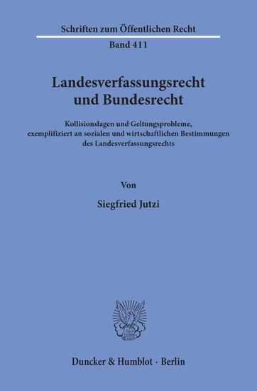 Landesverfassungsrecht und Bundesrecht. - Blick ins Buch