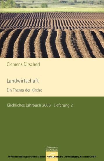 Landwirtschaft - Dein Thema der Kirche - Blick ins Buch