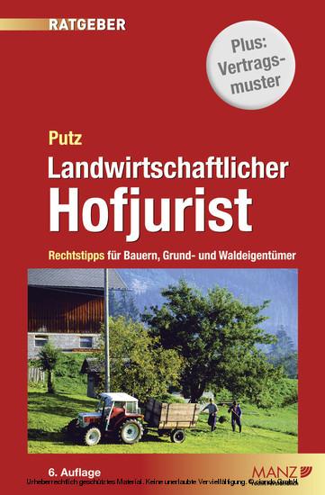 Landwirtschaftlicher Hofjurist - Blick ins Buch