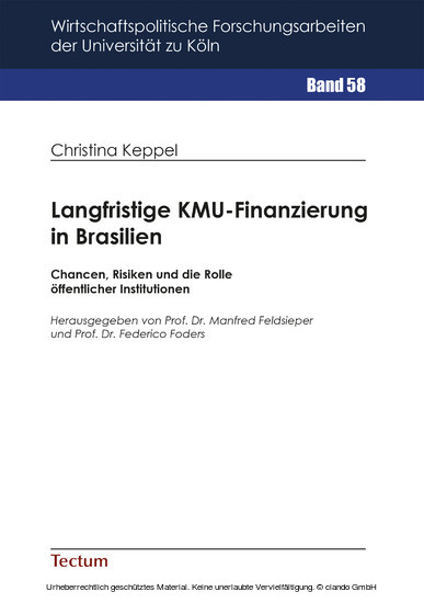 Langfristige KMU-Finanzierung in Brasilien - Blick ins Buch