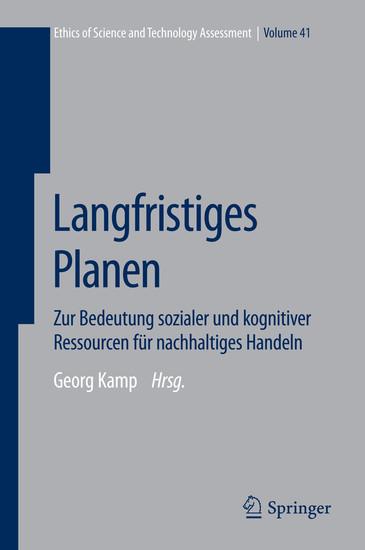 Langfristiges Planen - Blick ins Buch