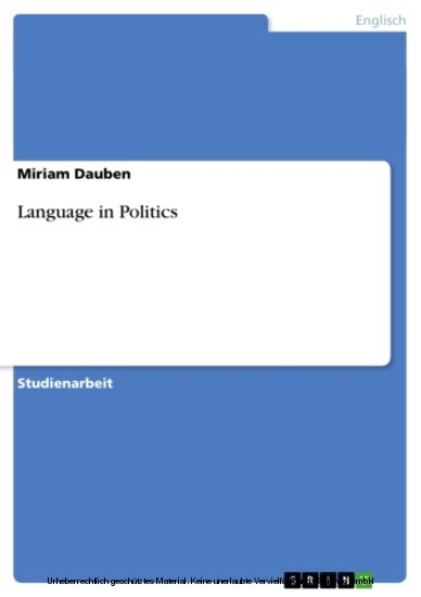 Language in Politics - Blick ins Buch