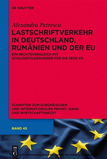 Lastschriftverkehr in Deutschland, Rumänien und der EU - Blick ins Buch