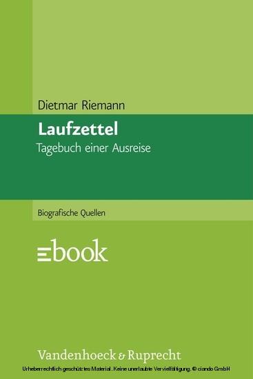 Laufzettel - Blick ins Buch
