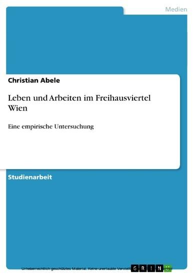 Leben und Arbeiten im Freihausviertel Wien - Blick ins Buch
