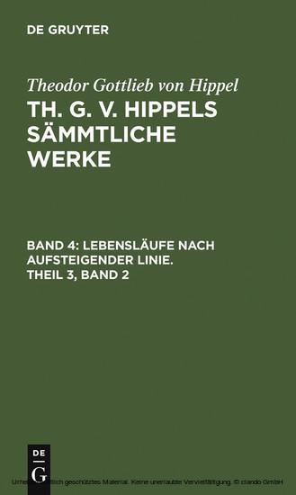 Lebensläufe nach aufsteigender Linie. Theil 3, Band 2 - Blick ins Buch