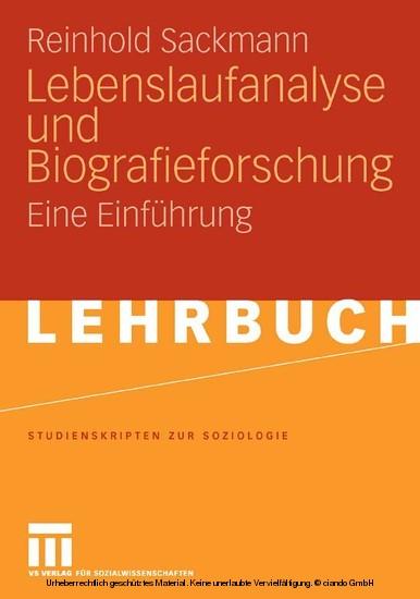 Lebenslaufanalyse und Biografieforschung - Blick ins Buch