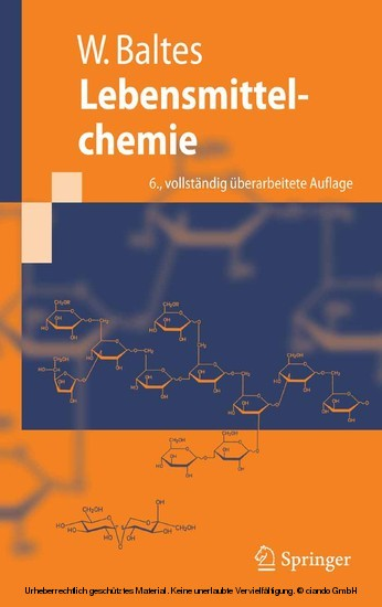 Lebensmittelchemie - Blick ins Buch