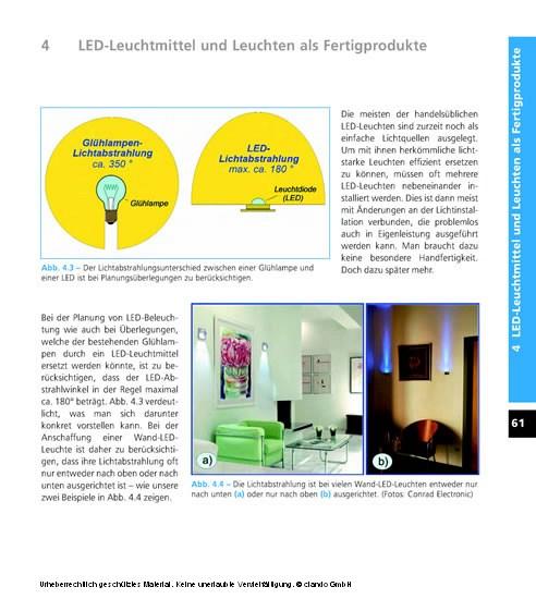 LED-Beleuchtungen im Haus selbst planen und installieren - Blick ins Buch