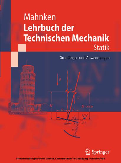 Lehrbuch der Technischen Mechanik - Statik - Blick ins Buch
