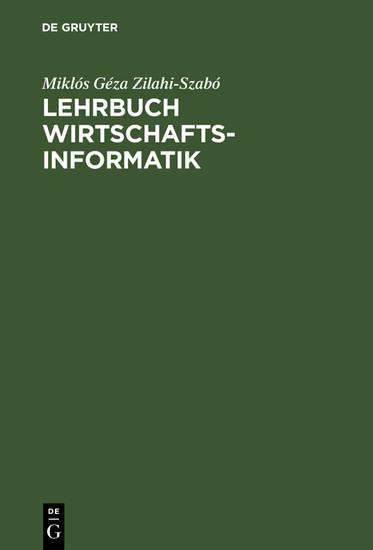 Lehrbuch Wirtschaftsinformatik - Blick ins Buch