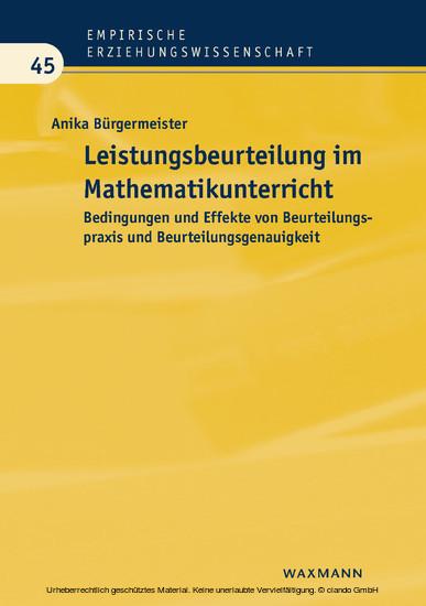 Leistungsbeurteilung im Mathematikunterricht - Blick ins Buch