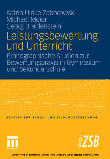 Leistungsbewertung und Unterricht - Blick ins Buch