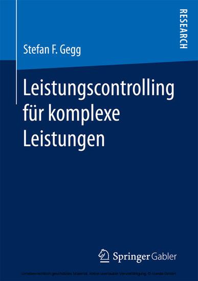 Leistungscontrolling für komplexe Leistungen - Blick ins Buch