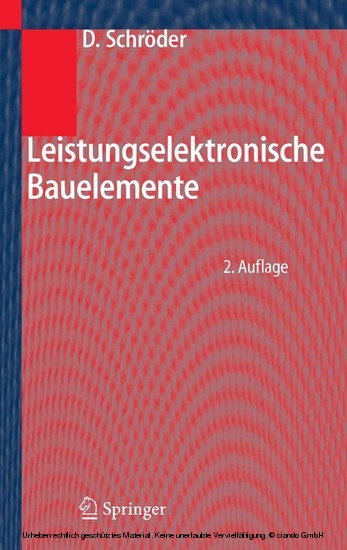 Leistungselektronische Bauelemente - Blick ins Buch