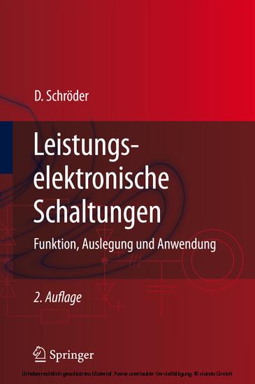 Leistungselektronische Schaltungen - Blick ins Buch