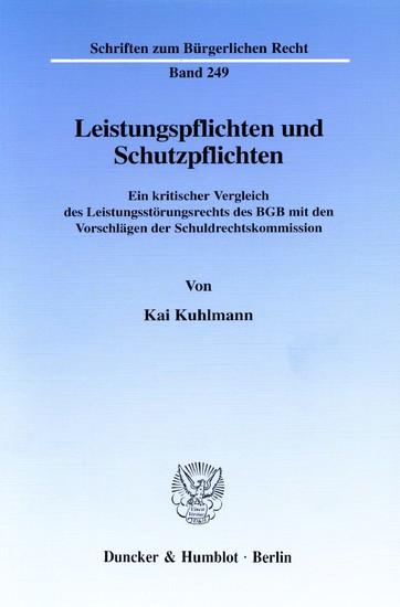 Leistungspflichten und Schutzpflichten. - Blick ins Buch